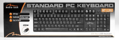 USB STANDARD PC KEYBOARD MT122KU-US